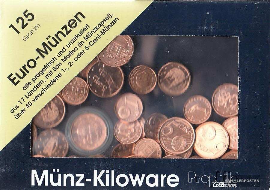 Europa 125 Gramm Münzkiloware Bankfrisch Mit über 40